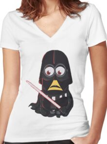 Minion|Minions|Darth Vader Women's Fitted V-Neck T-Shirt
