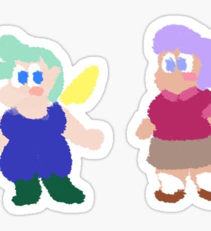 Peri and Tulip stickers Sticker