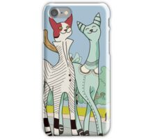 Francis and Clara, Art Deco Cats iPhone Case/Skin