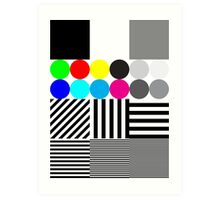Extreme tone test pattern with colour Art Print
