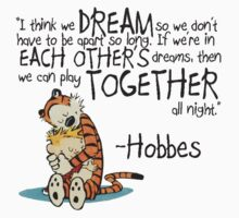Calvin and Hobbes Dreams Quote One Piece - Short Sleeve