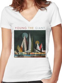Young the Giant Women's Fitted V-Neck T-Shirt