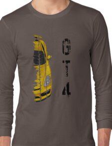 yellow Porsche cayman gt4 Long Sleeve T-Shirt
