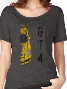 yellow Porsche cayman gt4 Women's Relaxed Fit T-Shirt