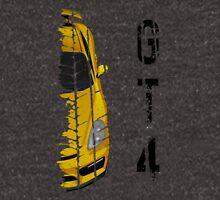 yellow Porsche cayman gt4 Unisex T-Shirt