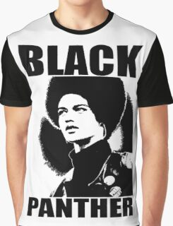 KATHLEEN CLEAVER-BLACK PANTHER Graphic T-Shirt