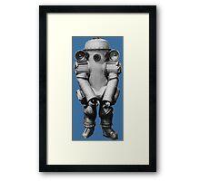 Retro Deep Sea Diver Framed Print