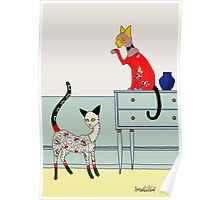 Fitzgerald and Elouise, Art Deco Cats Poster
