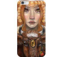 Fehu rune maiden iPhone Case/Skin