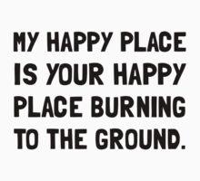 Happy Place Burning One Piece - Short Sleeve