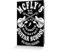McFly's Guitar School Greeting Card