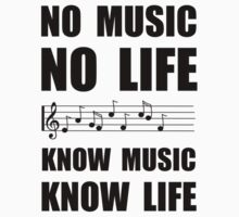 Know Music Know Life Baby Tee
