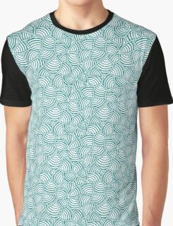 White on Teal Graphic T-Shirt