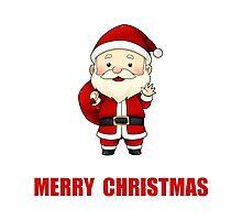 Merry Christmas Santa Claus Photographic Print