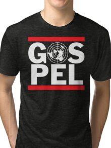 Flat Earth Gospel Truth Tri-blend T-Shirt