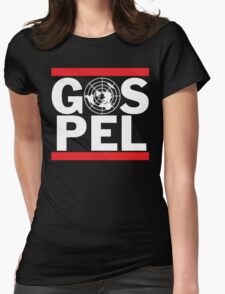 Flat Earth Gospel Truth Womens Fitted T-Shirt
