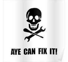 Pirate Fix It Skull Poster