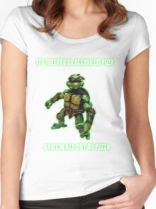 Out of Pizza Women's Fitted Scoop T-Shirt