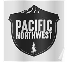Pacific Northwest Mountain Badge Poster