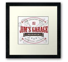 Jim's Garage Framed Print