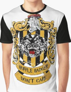 Huffle Badger Don't Care Graphic T-Shirt