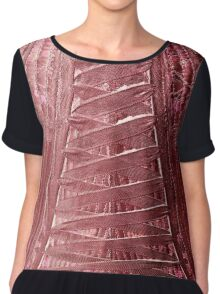 Laced Up Tight Chiffon Top