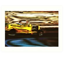 Yellow Rod Drive-By Art Print