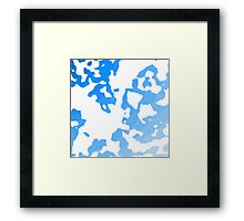 Blue Scale Splotches Framed Print
