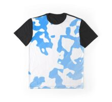 Blue Scale Splotches Graphic T-Shirt