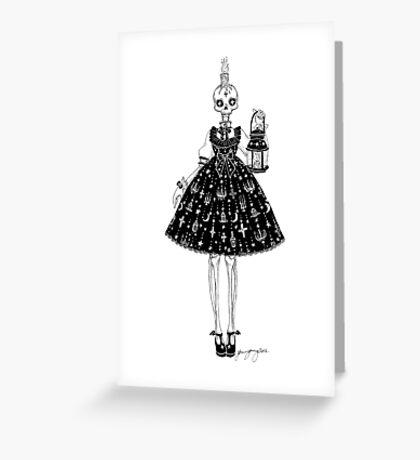 Skeleton girl Greeting Card