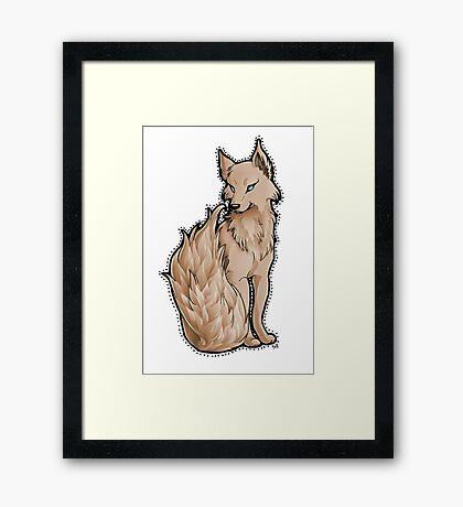 Orange Flame-Tail Wolf Framed Print