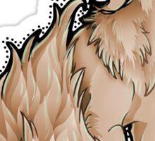 Orange Flame-Tail Wolf Sticker