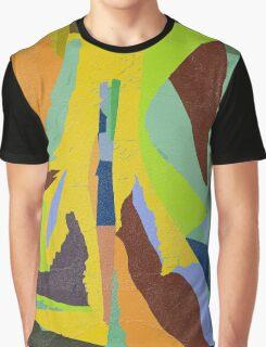 YELLOW GEO ABSTRACT DIGITAL PRINT Graphic T-Shirt