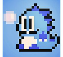 Pixel Bubble Bobble (Blue) Photographic Print