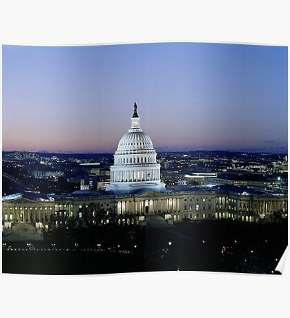 Capitol in Washington DC Poster