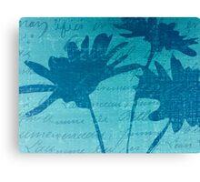 Aqua Blue Autumn  Canvas Print