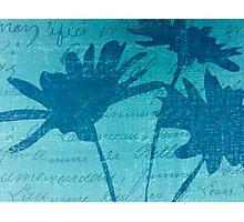 Aqua Blue Autumn  Photographic Print