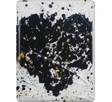 Abstract Black and White Heart iPad Case/Skin