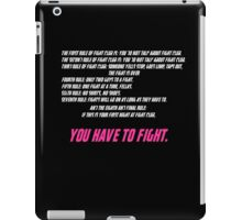 Fight Club 8 Rules iPad Case/Skin