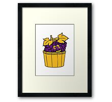 grapes grape harvesting tasty wine comic face cool sunglasses funny summer stomp bucket vat occur Framed Print