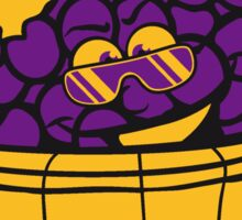 grapes grape harvesting tasty wine comic face cool sunglasses funny summer stomp bucket vat occur Sticker