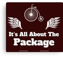Its All About the Package Cycling Tee Canvas Print