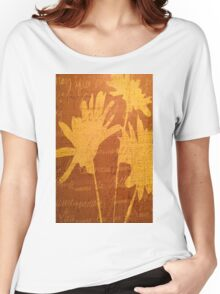 Autumn Sunset Flowers Women's Relaxed Fit T-Shirt