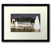 WWII Memorial Washington DC Framed Print