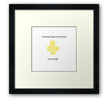 Salty Chris graphic design  Framed Print