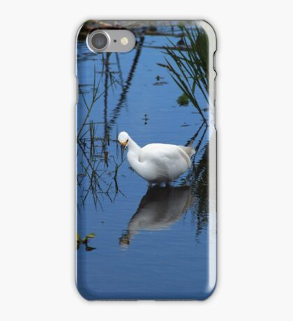Snowy Egret in Water iPhone Case/Skin