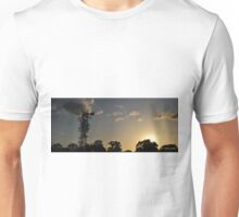 Panoramic Windmill at Sunset Unisex T-Shirt