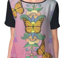 butterflys dancing in the plains Chiffon Top