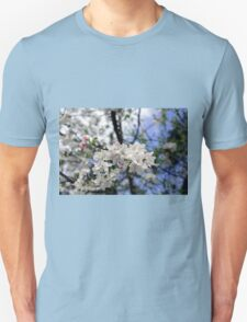 Bee at work on the apple tree flowe T-Shirt