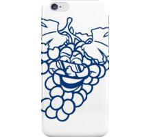 grapes grape harvesting tasty wine comic face cool sunglasses funny summer iPhone Case/Skin
